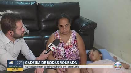 Ladrões roubam cadeira de rodas de garota com paralisia cerebral em BH