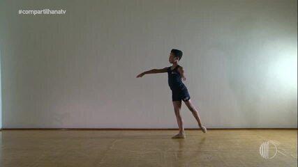 Bailarino de 10 anos 'dribla' preconceito