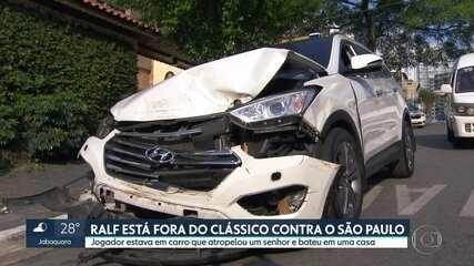 Ralf está fora do jogo Corinthians contra o São Paulo após se envolver em acidente