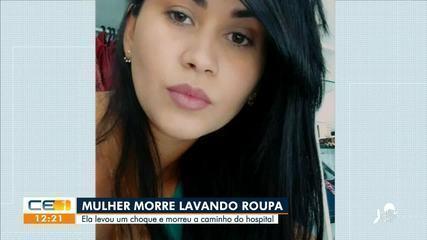 Mulher morre após levar choque em máquina de lavar na zona rural de Sobral
