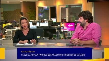 Rodrigo Capelo comenta pesquisa que revela fatores que afastam o torcedor do estádio