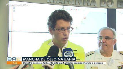 Ministro do Meio Ambiente fala o surgimento das manchas de óleo no litoral baiano