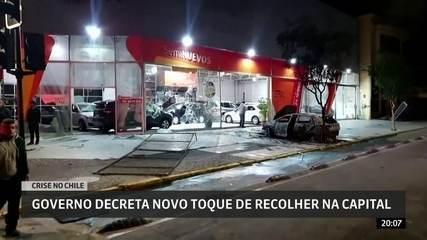 Governo do Chile decreta novo toque de recolher na capital Santiago
