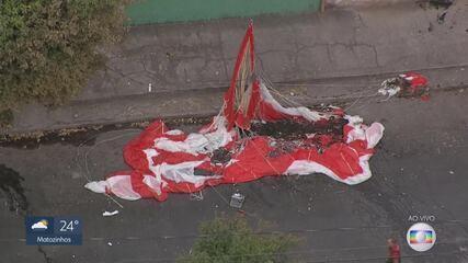 Paraquedas do avião foi acionado para minimizar impactos da queda; aeronave caiu em BH