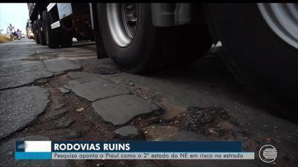 Pesquisa aponta Piauí como segundo por em riscos na estrada