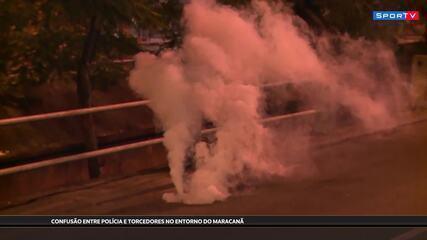 Confusão, bomba e correria no Maracanã antes de Flamengo x Grêmio, pela Libertadores