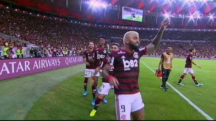 Veja os melhores momentos da goleada do Flamengo sobre o Grêmio