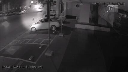 Câmeras de segurança mostraram Noélia Rodrigues caminhando antes de encontrar vizinho