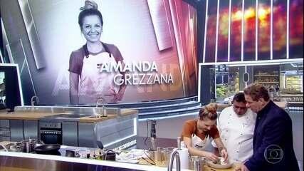 Amanda Grezzana apresenta Vitelo com emulsão de porcini, mousseline de couve-flor e maxixe
