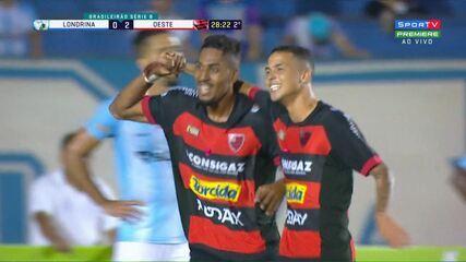 Melhores momentos de Londrina 0x2 Oeste, pela 31ª rodada da Série B do Brasileiro
