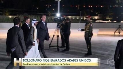 Bolsonaro desembarca em Abu Dhabi