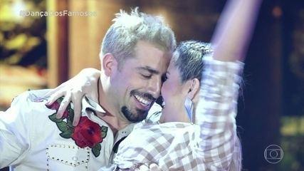 Kaysar Dadour e Mayara Araújo se apresentam no 'Dança dos Famosos'