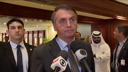 Bolsonaro diz que não pretende parabenizar presidente eleito da Argentina