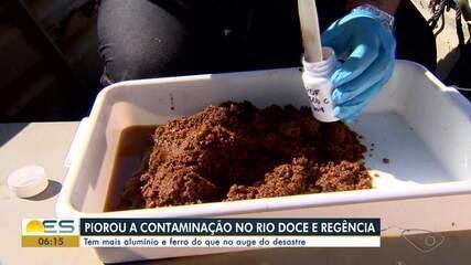Rio Doce tem mais alumínio e ferro do que no auge do desastre ambiental de Mariana
