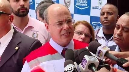 Governador Witzel rebate acusações do presidente Bolsonaro