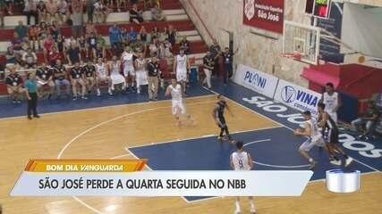 São José perde a quarta e segue sem vencer no NBB