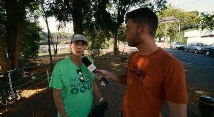 Rafael Ristow foi para Piracicaba (SP) conhecer o projeto Pira no Plogging