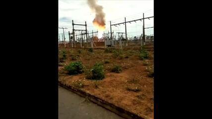 Incêndio em subestação deixa quatro municípios sem energia em MT