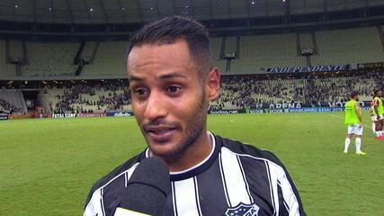 """Mateus Gonçalves já pensa no Fortaleza: """"Clássico a gente não joga. Tem que ganhar"""""""