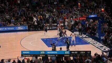 Melhores momentos: New York Knicks 106 x 102 Dallas Mavericks pela NBA