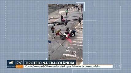 Confusão entre GCM e usuários de drogas termina em tiros, na Cracolândia