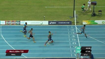 Daniel Tavares vence 400m T20 e se torna bicampeão mundial.