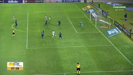 No Rei Pelé, CSA perde para o Vasco se fica em situação delicada na tabela da Série A