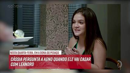 Resumo do dia - 13/11 – Cássia pergunta a Agno quando ele vai casar com Leandro