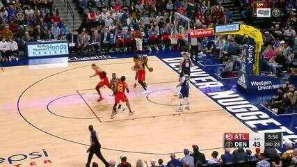 Melhores momentos: Denver Nuggets 121 x 125 Atlanta Hawks, pela NBA