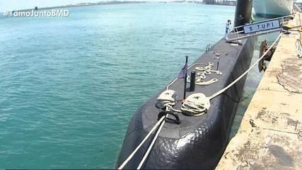 Conheça o submarino Tupi, que faz uma parada na capital baiana.