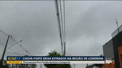 Chuva forte provoca estragos na região de Londrina