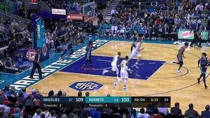 Melhores momentos: Grizzlies 119 x 117 Hornets pela NBA