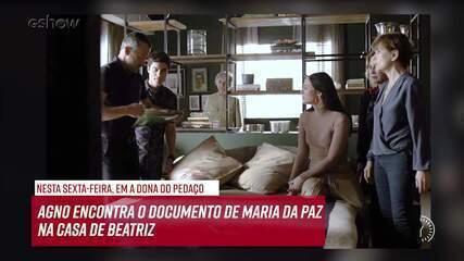 Resumo do dia - 15/11 – Agno encontra o documento de Maria da Paz na casa de Beatriz