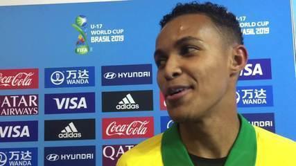 """Lázaro comenta gol salvador pelo Brasil contra a França: """"Estava sentindo"""""""