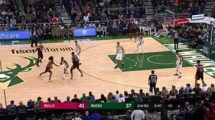 Melhores momentos: Milwaukee Bucks 124 x 115 Chicago Bulls, pela NBA