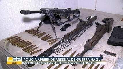 Polícia apreende R$ 1,5 mil em armas na Zona Leste SP