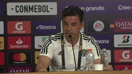 Marcelo Gallardo confirma escalação do River para a final da Libertadores contra o Fla
