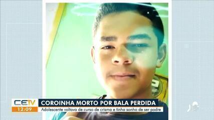Coroinha adolescente voltava do curso de crisma é morto por bala perdida