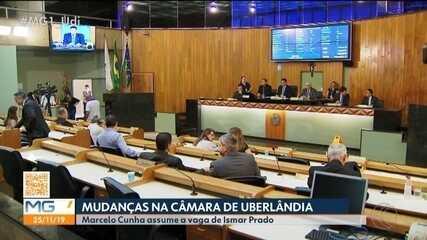 MG1: presidente da Câmara Municipal de Uberlândia lê carta de renuncia de Ismar Padro
