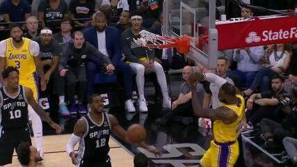 Melhores momentos: Los Angeles Lakers 114 x 104 San Antonio Spurs pela NBA
