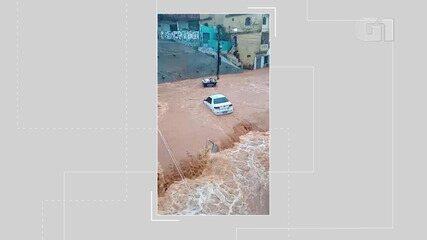 Moradores de Bom Juá ficam preocupados com enchente formada pela água da chuva