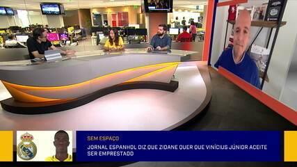 Jornal espanhol diz que Zidane quer que Vinícius Júnior aceite ser emprestado