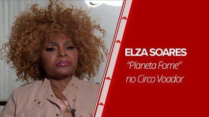 """Elza Soares faz show do disco """"Planeta Fome"""" no Circo Voador"""