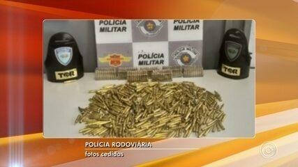 Passageira é presa com centenas de munições de fuzil em Itu