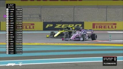 Pérez ultrapassa Hulkenberg e assume 8ª posição