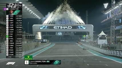 Hamilton termina em primeiro, Vertappen em segundo e Leclerc em terceiro no GP de Abu Dhabi