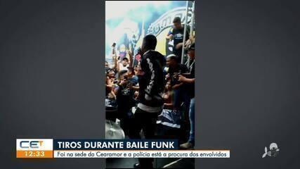 Tiros durante baile funk na sede da Cearamor