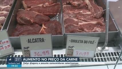 Preço da carne bovina dispara e assusta consumidores em SC; entenda motivos
