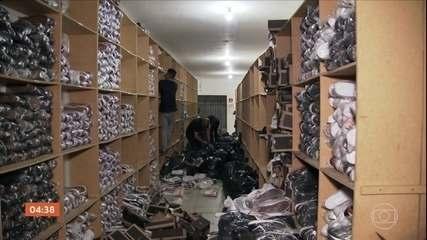 Operação contra falsificação de produtos no Brás em SP tem milhares de apreensões