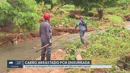 Corpo de mulher que desapareceu em temporal é encontrado em Sete Lagoas